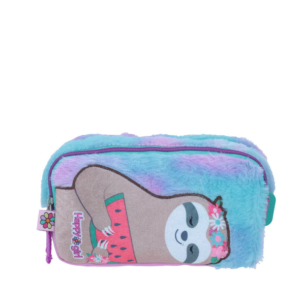 Estuche  perezoso peluche happy girl