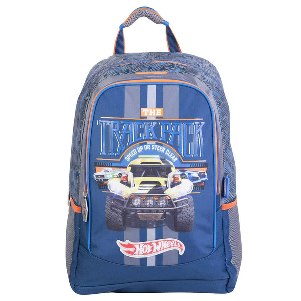 Mochila  hot wheels azul