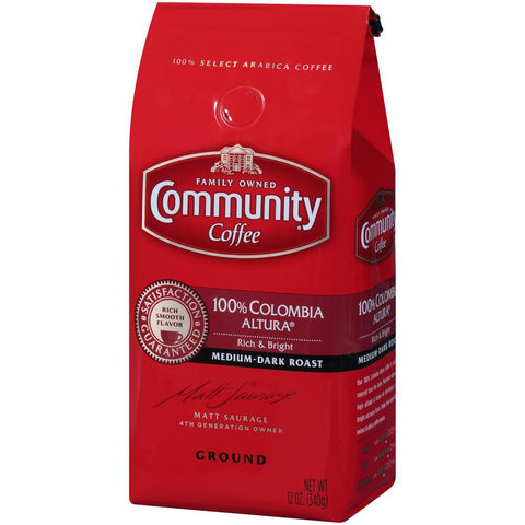 12 oz. 100% Colombia Altura Medium-Dark Roast Premium Ground Coffee