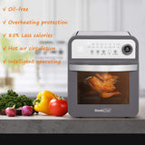 1600-Watts 16-Preset Gray Modes All in One Multi-Function Air Fryer Oven with Rotisserie and Dehydrator