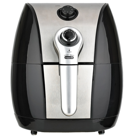 Brentwood Select 3.4 Quart Adjustable Air Fryer, Black and Gray,AF-32MBK.