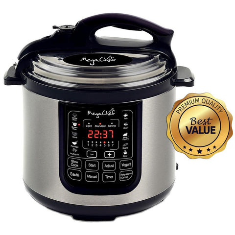 8 Qt. Stainless Steel Electric Pressure Cooker with Stainless Steel Pot