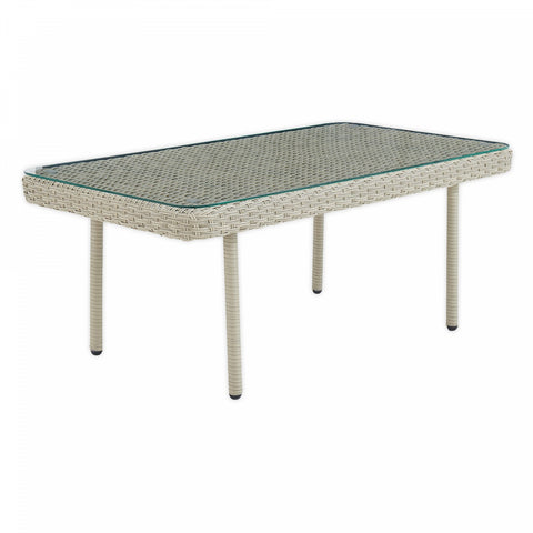 Alaterre Furniture Windham 42-Inch Rectangle All-Weather Coffee Table