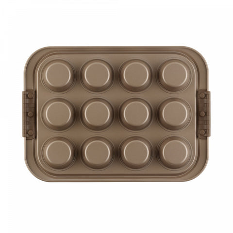 Anolon Advanced 12-Cup Nonstick Muffin Pan in Bronze