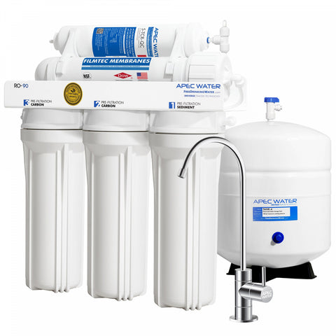 Apec Water WQA-Certified 90 GPD RO Water Filtration System