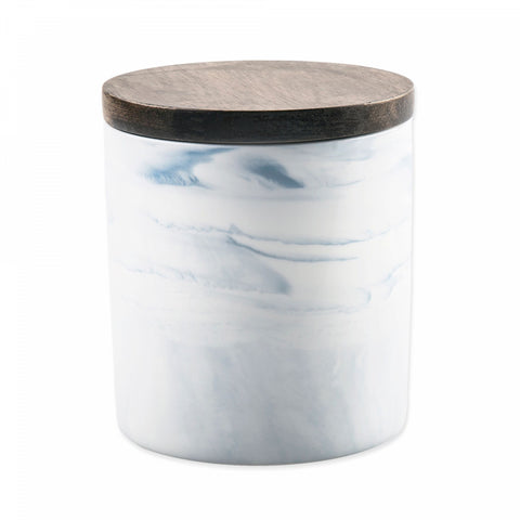 Artisanal Kitchen Supply Coupe Marbleized 20 oz. Canister in Blue