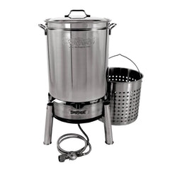 Bayou Classic 60 Qt. Stainless Steel Boil and Steam Cooker Kit