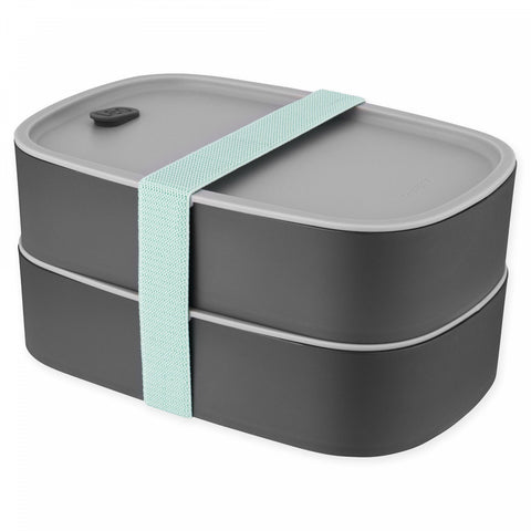 BergHOFF Leo 3-Piece Dual Bento Box Set in Grey