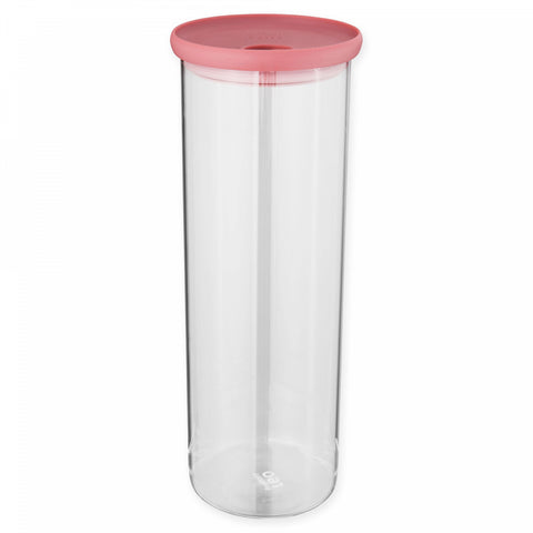 BergHOFF Leo 64 oz. Covered Glass Pasta Container in Pink
