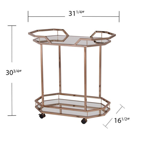 Berndt Champagne Finish Bar Cart