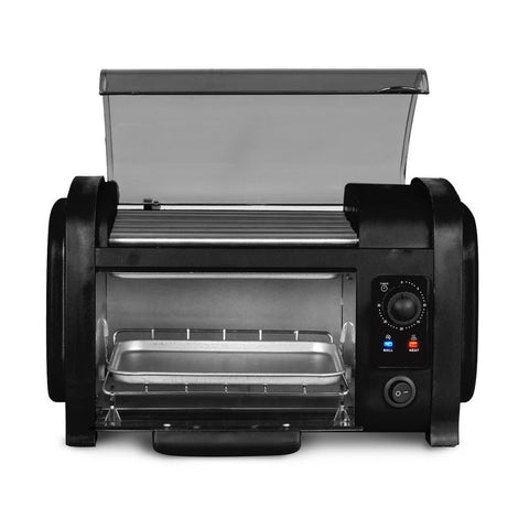 Black Hot Dog Roller and Toaster Oven