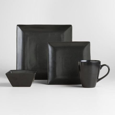 Black Trilogy Shallow Bowls, Set of 4