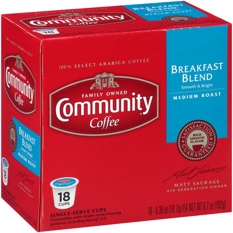 Breakfast Blend Medium Roast Single Serve Cups (72-Pack)