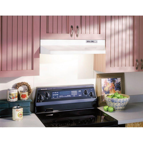 Broan 42000 Series 30 in. Under Cabinet Range Hood with Light in White