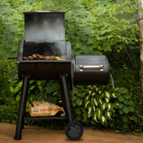 Broil King Smoke Offset 500 Charcoal Grill and Offset Smoker in Black