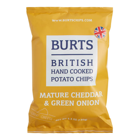 Burts Mature Cheddar and Green Onion Potato Chips Set of 10