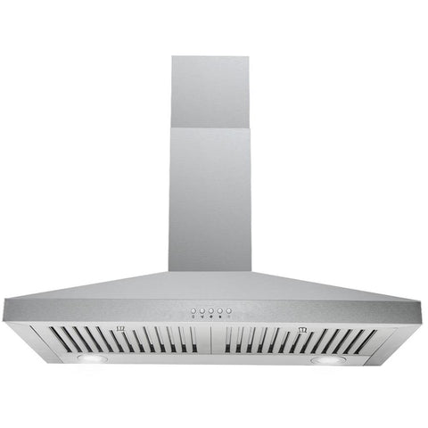 Cavaliere 30 in. Wall Mount Range Hood in Stainless Steel with Professional Baffle Filters, LED lights, Touch Screen Control