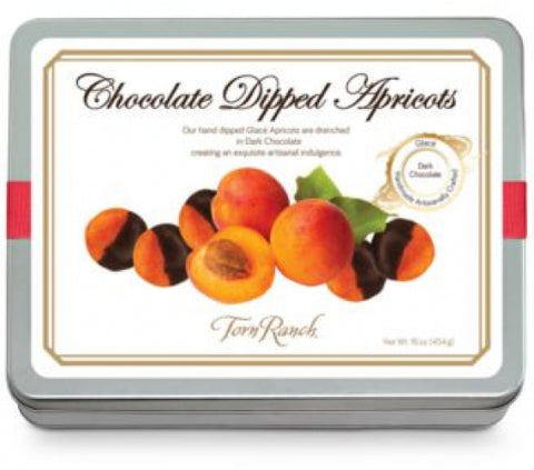 Chocolate-Dipped Glacéd Apricots