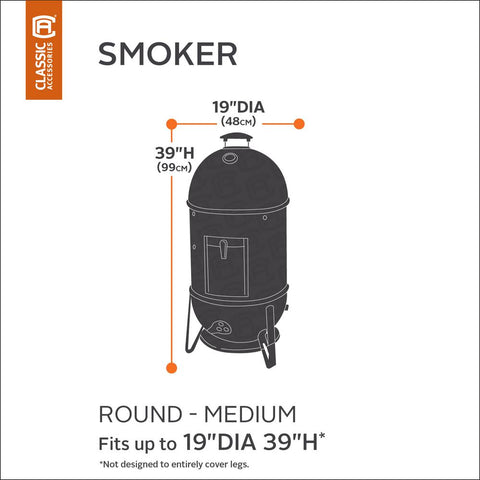 Classic Accessories Round Smoker Cover