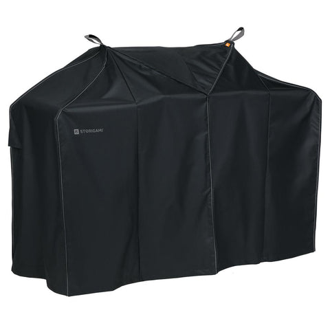 Classic Accessories Storigami 70 in. L x 30 in. W x 49 in. H Easy Fold BBQ Grill Cover Charcoal Black