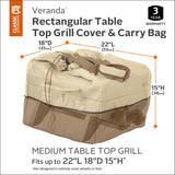 Classic Accessories Veranda 22 in. L x 18 in. W x 15 in. H Rectangular Table Top Grill Cover and Carry Bag