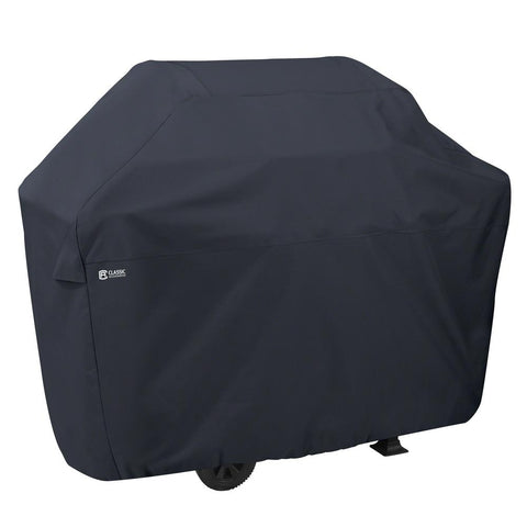 Classic Accessories 64 in. L x 26 in. W x 48 in. H BBQ Grill Cover with Grill Tool Set Grilling Spatula, Tongs and Fork Included