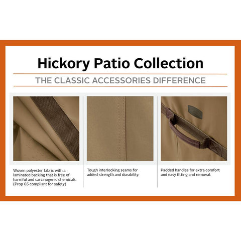 Classic Accessories Hickory 30 in. L x 30 in. W x 43 in. H Kettle Grill Cover