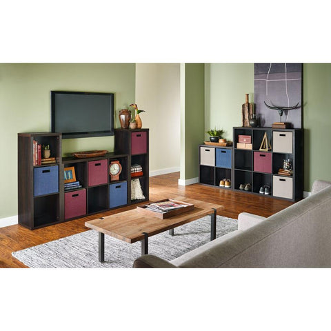ClosetMaid 16 in. W x 44 in. H Decorative Black Walnut 3-Cube Organizer