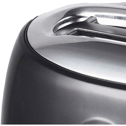 Cool-Touch 2-Slice Black Retro Toaster with Extra-Wide Slots