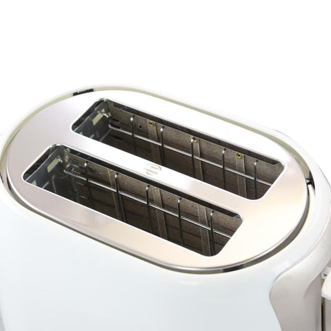 Cool Touch White Wide-Slot Toaster