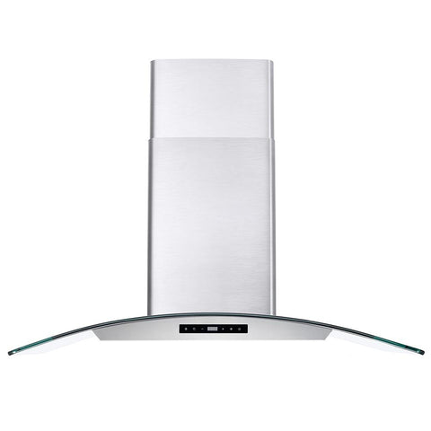 Cosmo 36 in. Ductless Wall Mount Range Hood in Stainless Steel with LED Lighting and Carbon Filter Kit for Recirculating
