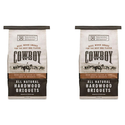 Cowboy 14 lbs. All Natural Hardwood BBQ Charcoal Briquets for Grilling (2-Pack)