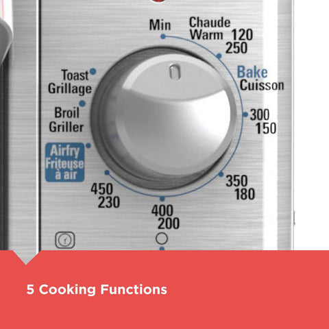 Crisp 'N Bake Extra Wide 1500 W 8-Slice Stainless Steel Countertop Oven