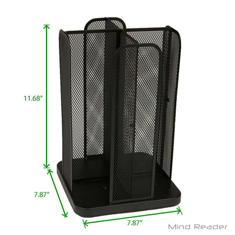 Cup and Lid Carousel Holder Organizer, Cup Dispenser Black Metal Mesh