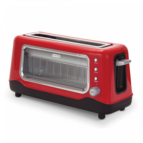 Dash Clear View 2-Slice Toaster RED