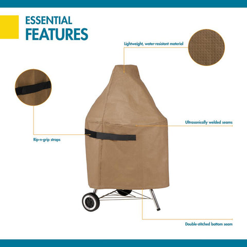 Duck Covers Essential 26 in. D x 36 in. H Kettle Grill Cover