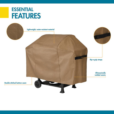 Duck Covers Essential 72 in. L x 22 in. W 49 in. H Latte BBQ Grill Cover