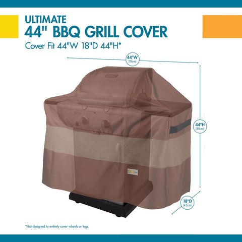 Duck Covers Ultimate 44 in. L x 18 in. W x 44 in. H BBQ Grill Cover