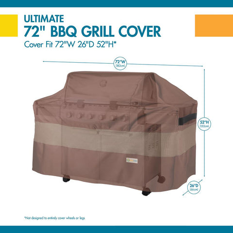 Duck Covers Ultimate 72 in. L x 26 in. W x 52 in. H BBQ Grill Cover
