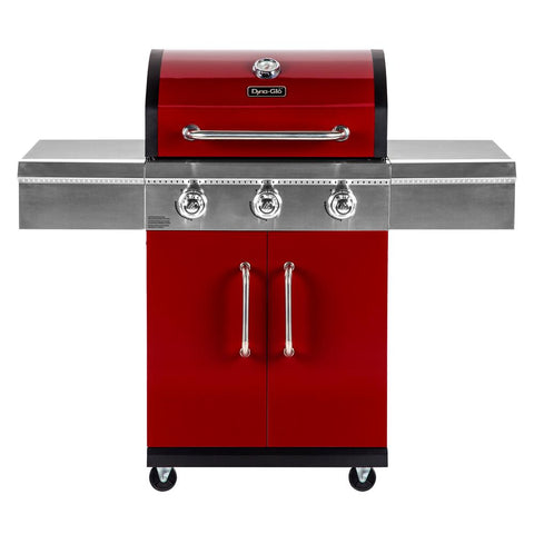 Dyna-Glo 3-Burner Propane Gas Grill in Red