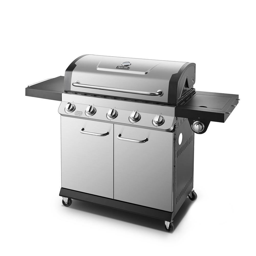 Dyna-Glo Premier 5-Burner Propane Gas Grill in Stainless ...