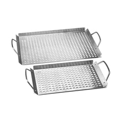 Fox Run 11 in. x 17 in. Stainless Steel Grill Topper Grid (2-Set)