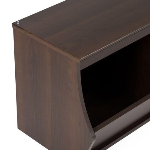Fremont 46 in. W x 18 in. H Espresso Stackable 3-Cube Organizer