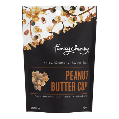 Funky Chunky Peanut Butter Cup Popcorn Set of 8