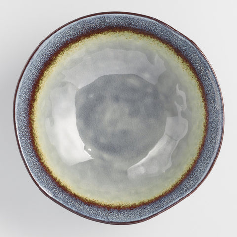 Gray Reactive Glaze Serving Bowl