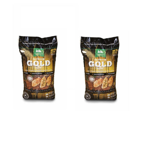 Green Mountain Premium Gold Blend Hardwood Grilling Cooking Pellets (2-Pack)