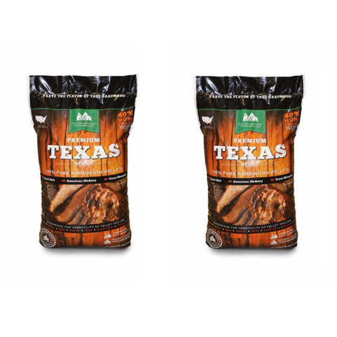 Green Mountain Premium Texas Pure Hardwood Grilling Cooking Pellets (2-Pack)