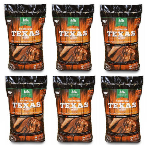 Green Mountain Premium Texas Pure Hardwood Grilling Cooking Pellets (6-Pack)