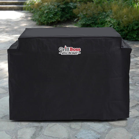 GrillBoss Premium Weather Proof Outdoor Heavy-Duty Griddle Cover, Black