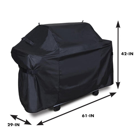 Grill Care Deluxe 61 in. PVC/Polyester Grill Cover compatible with Genesis 300
